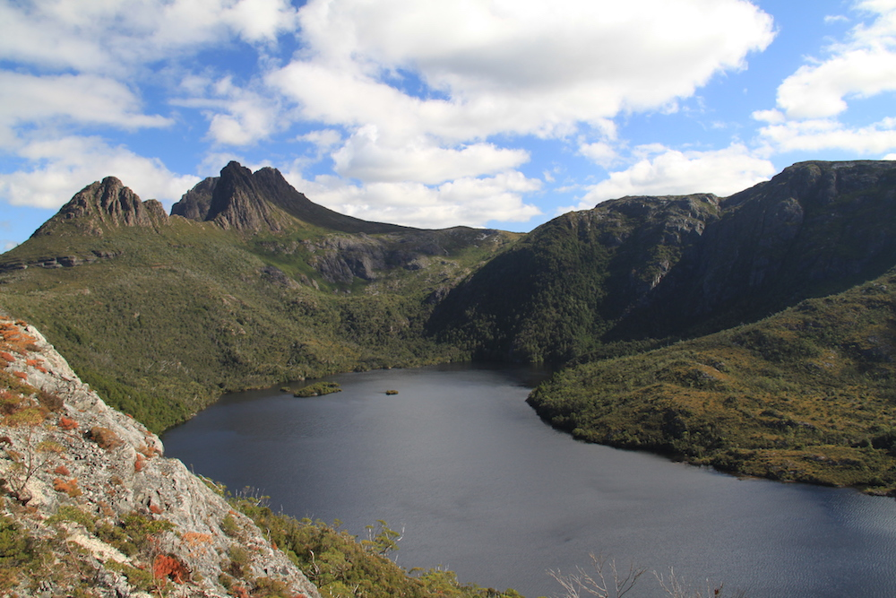 View of Lake Dove and Cradle Mountain from Hanson Peak