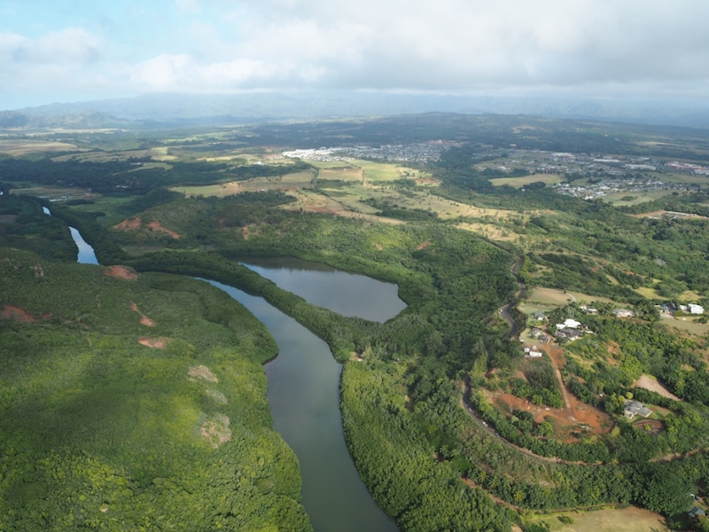 Wailua river soon after take off