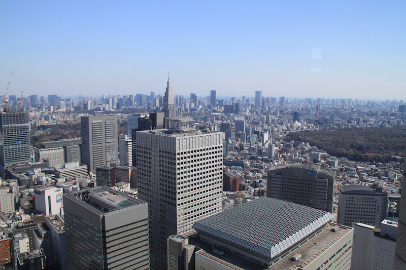 Great view from the observation deck of the Tokyo Metropolitan Government building