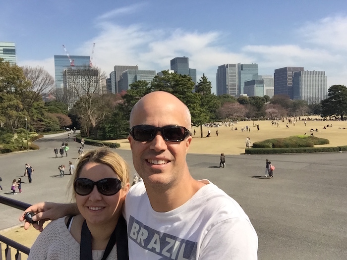 Selfie at the Imperial Palace Gardens