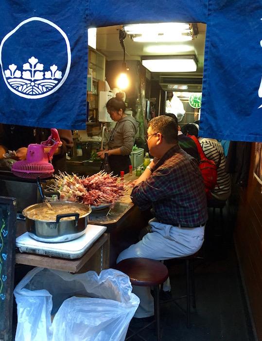 Small restaurant on Yakitori Lane