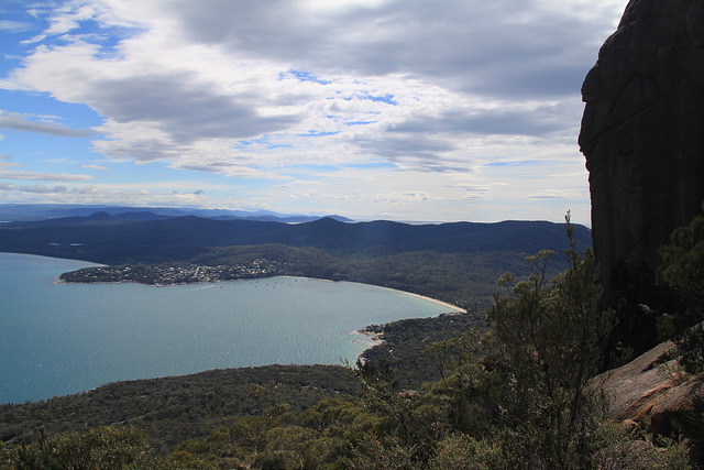 View over Coles Bay from the Mt Amos climb