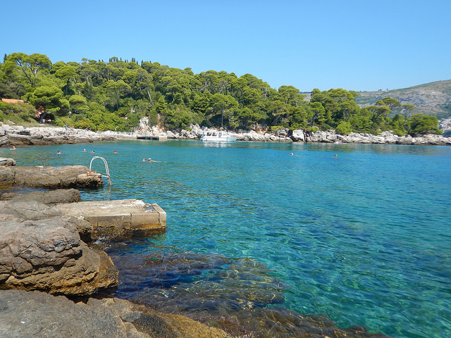 Stunning beach on Lokrum. Such beautiful waters!