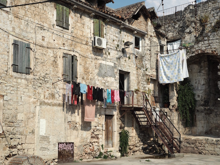 Clothes drying in the old town
