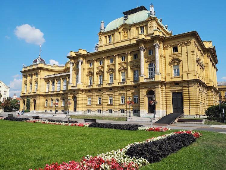 The beautiful Croatian National Theatre