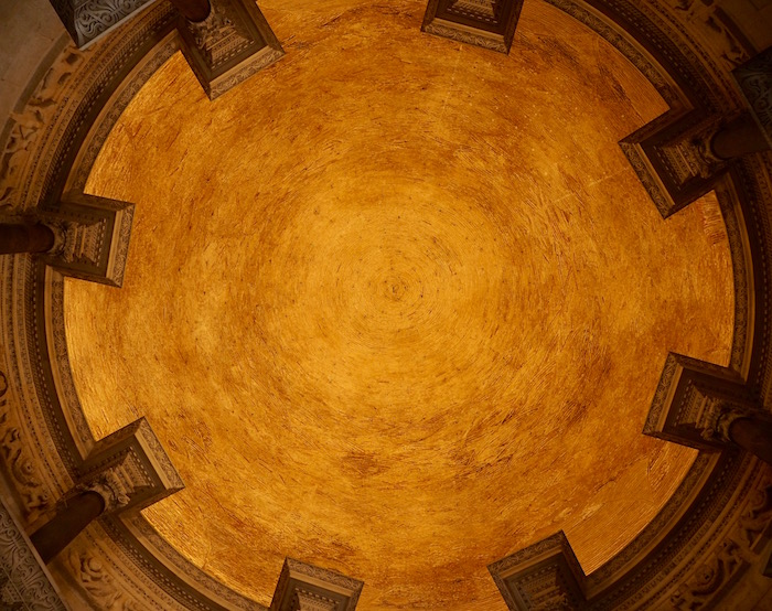 The cathedral's ceiling
