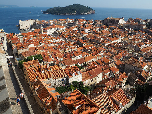 View over the canopy of red roofs. Stunning!