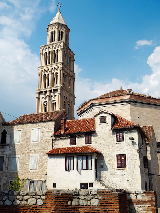 The bell tower of the Cathedral of St Domnious
