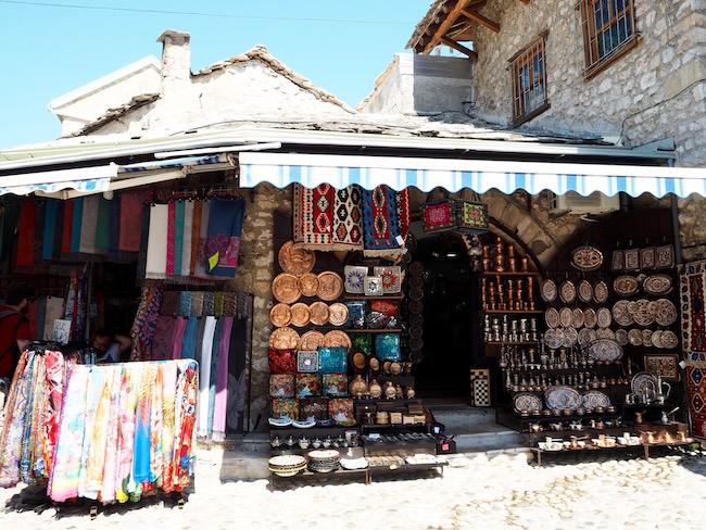 Many souvenir shops!