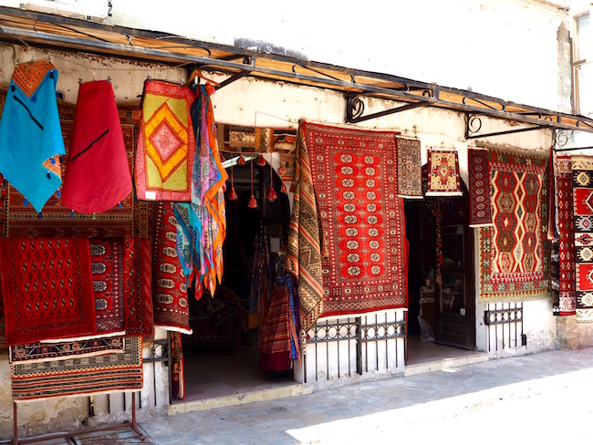 Carpet shop in the muslim part of Mostar