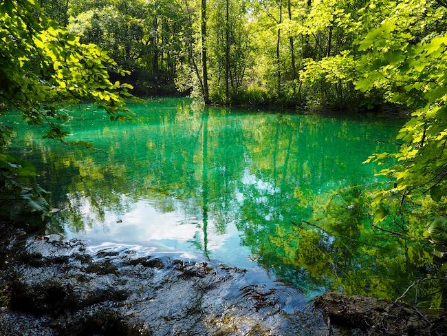 A beautiful green lake