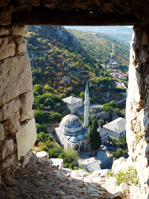 The Pocitelj Mosque from the tower