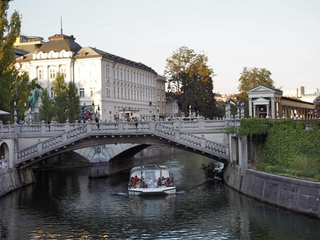 Boat cruise on the Ljubljanica river