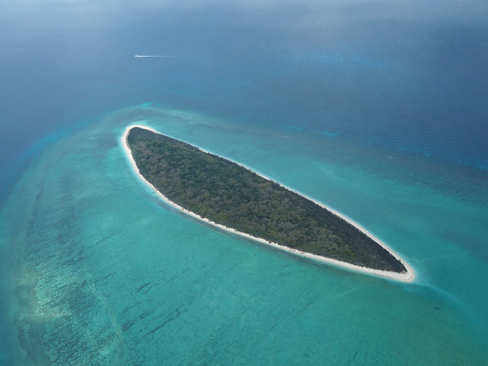 View over a neighbouring island from the seaplane.