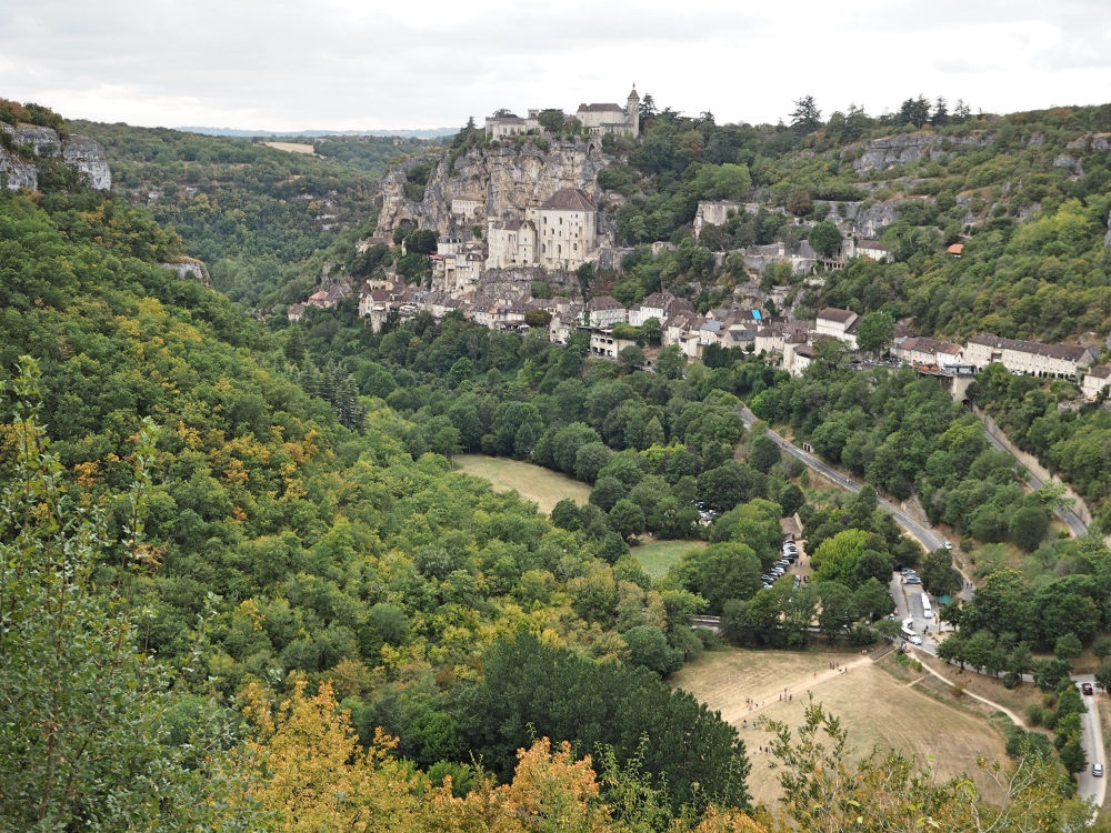 View of Rocamadour from the Hospitalet