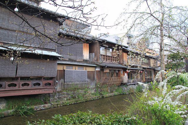 Traditional tea houses in the Gion district.
