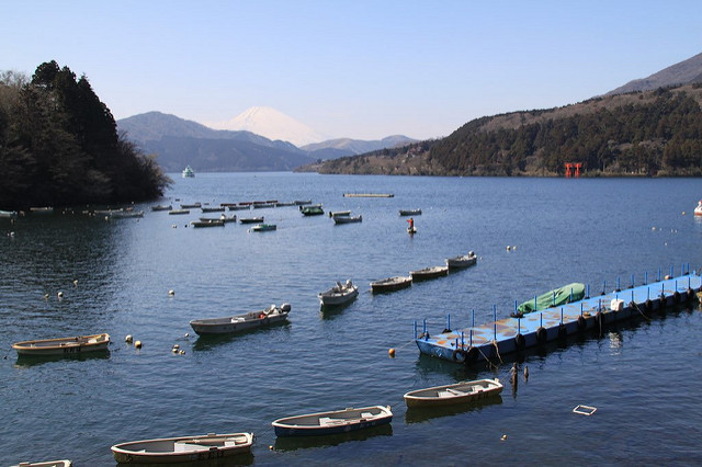 View of Lake Ashi from Moto-Hakone-Ko.