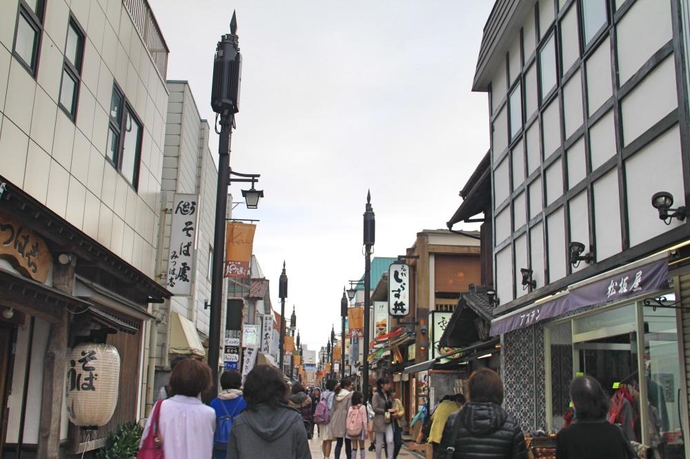 Kamakura's main shopping street, Komachi-dori Street.