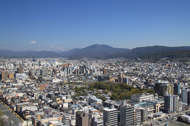 View from the Kyoto tower.