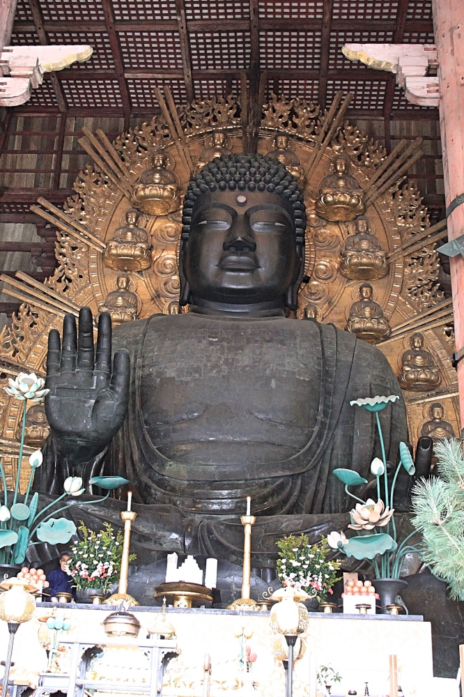 The Great Buddha of the Todai-ji Temple.