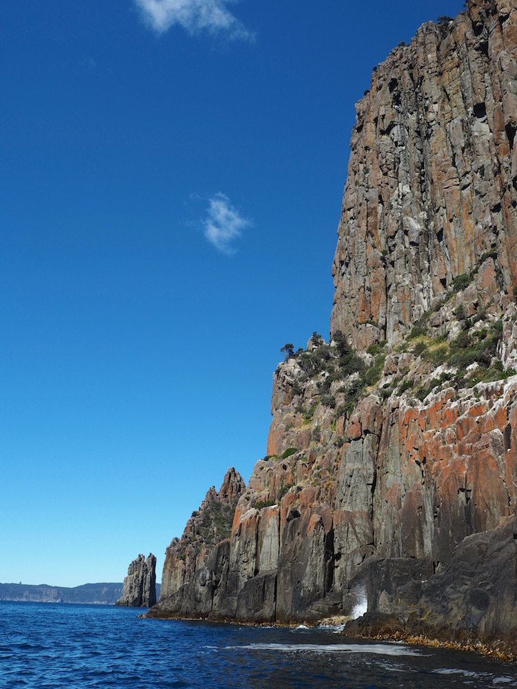 The beautiful Tasman Peninsula coastline.