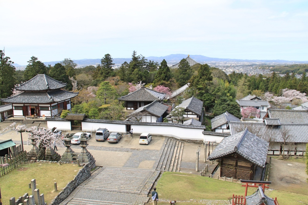 The view from the balcony of the Nigatsu-do temple.