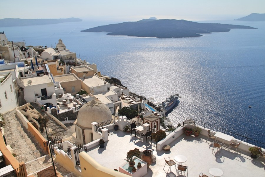 View from Thira.