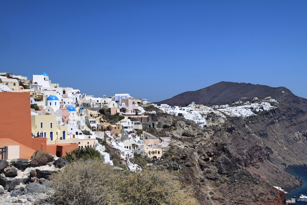 The old village of Oia.