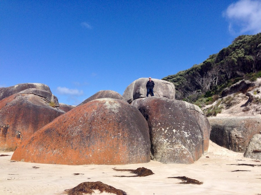 The boulders of Squeeky beach.