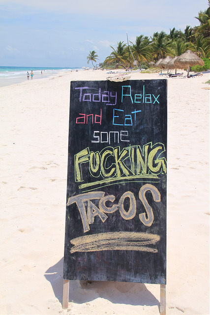 Tacos on the beach! Yes please!
