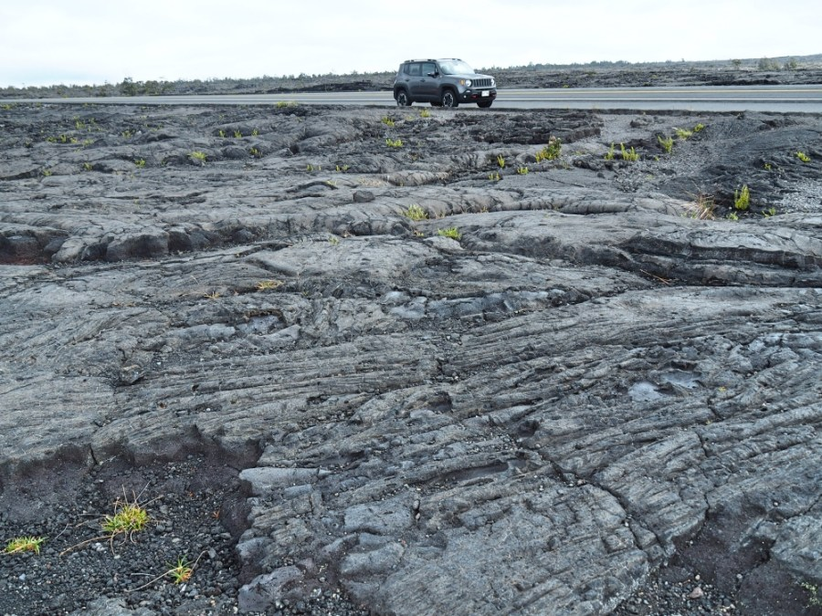 Many lava fields on the Chain of Craters road.