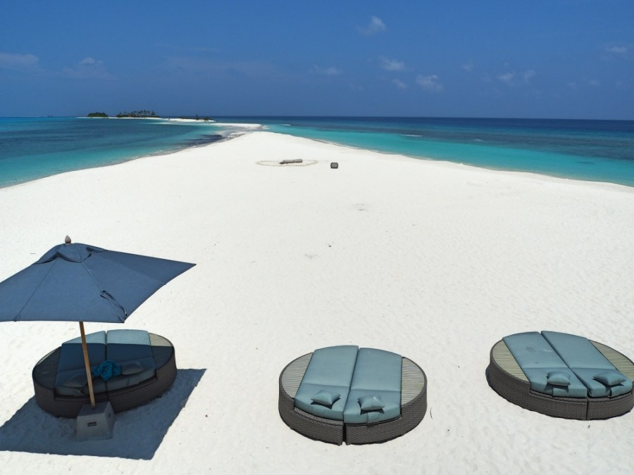 View of the sandbank from the lifeguard tower.