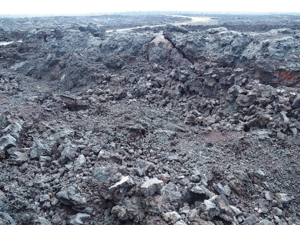 Lots of solidified lava fields.