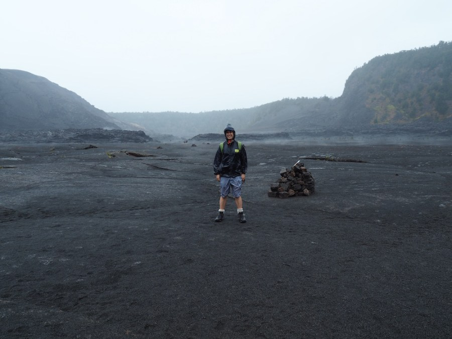 Simon soaked on the crater floor!