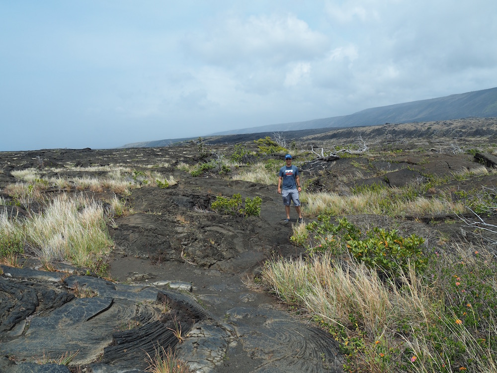 Walking back fro mthe petroglyths.