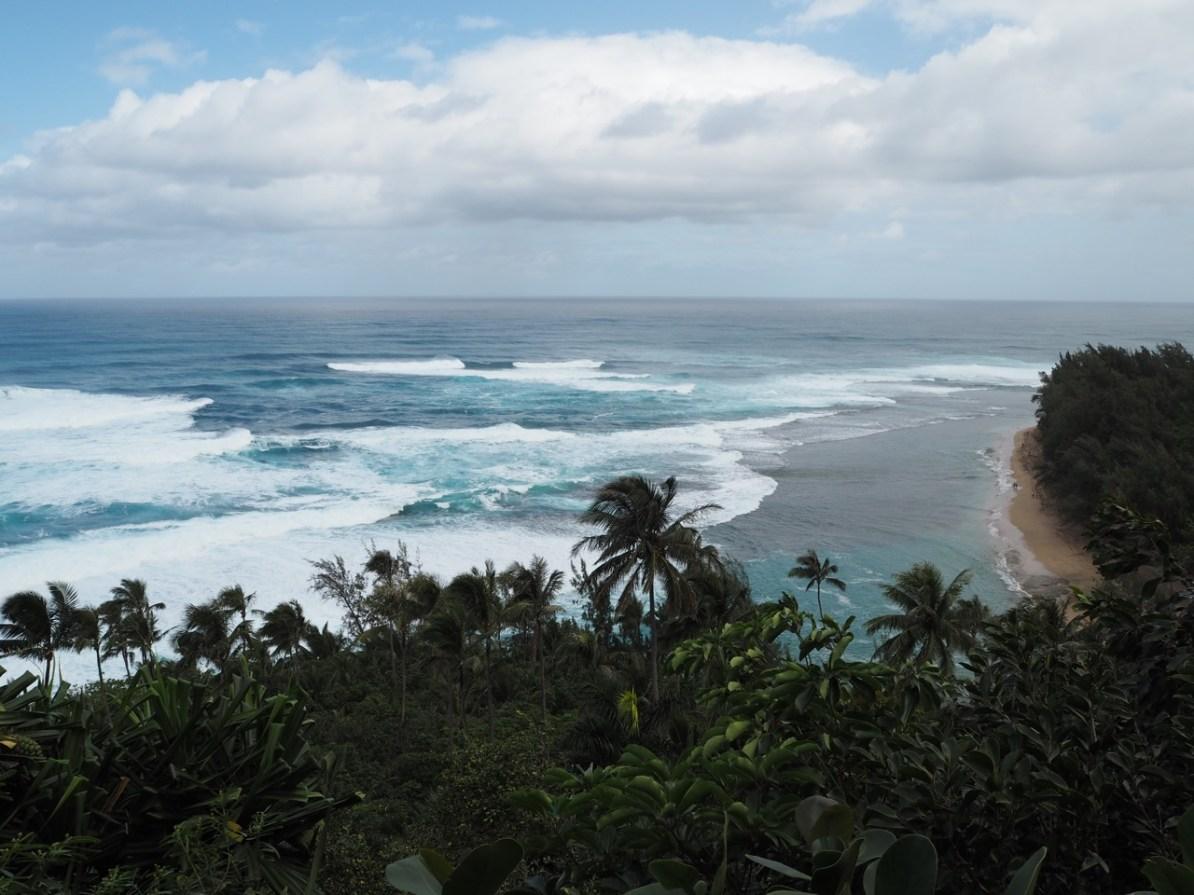 The view over Ke'e Beach.