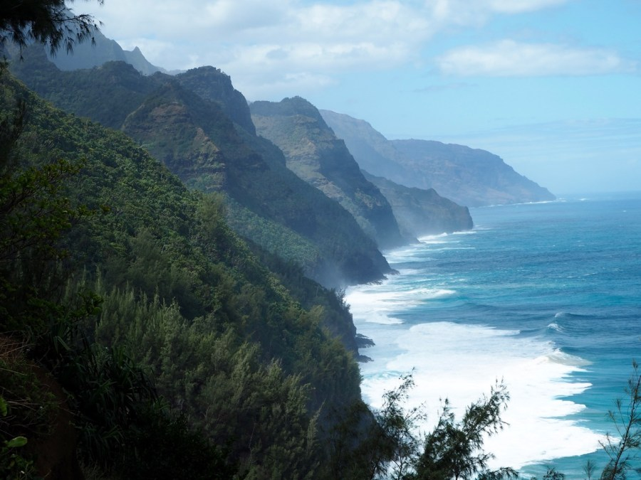 The view of the Na Pali Coast from the hike.