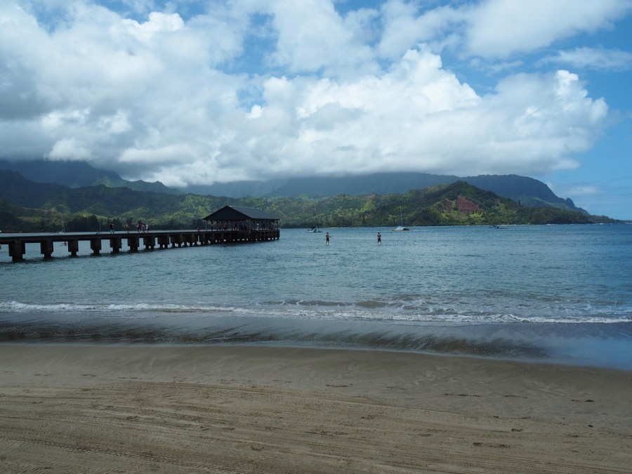 The Hanalei Bay Pier.