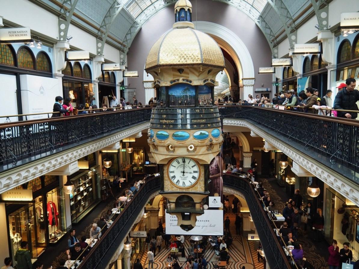 The Great Australian Clock inside the Queen Victoria Building.