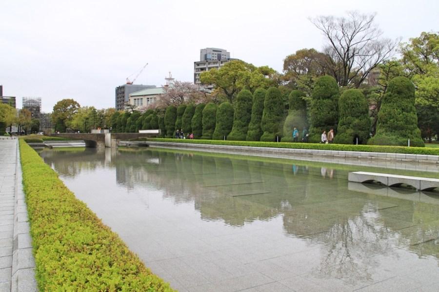 The peaceful Peace Memorial Park.