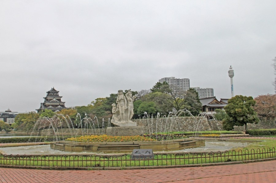 Beautiful gardens near the castle.