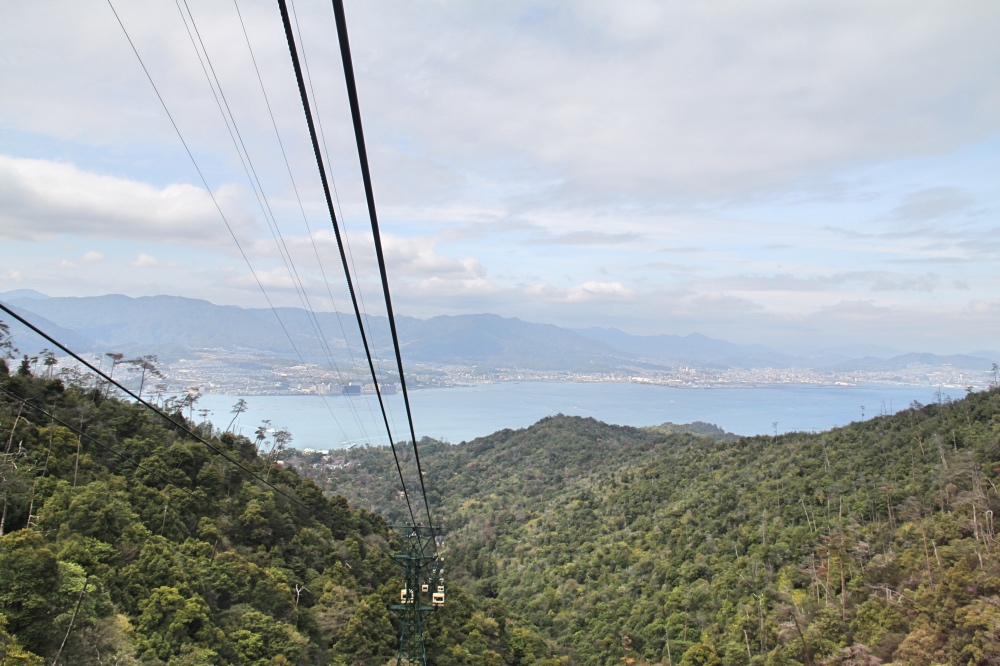 The Ropeway to Mt Misen.