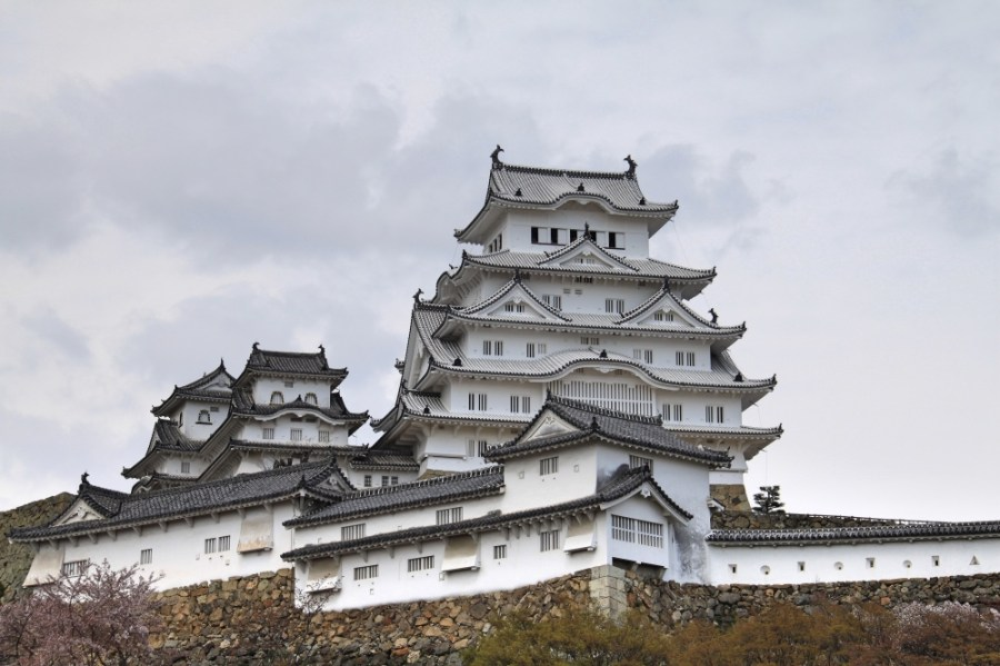 The newly renovated Himeji castle.