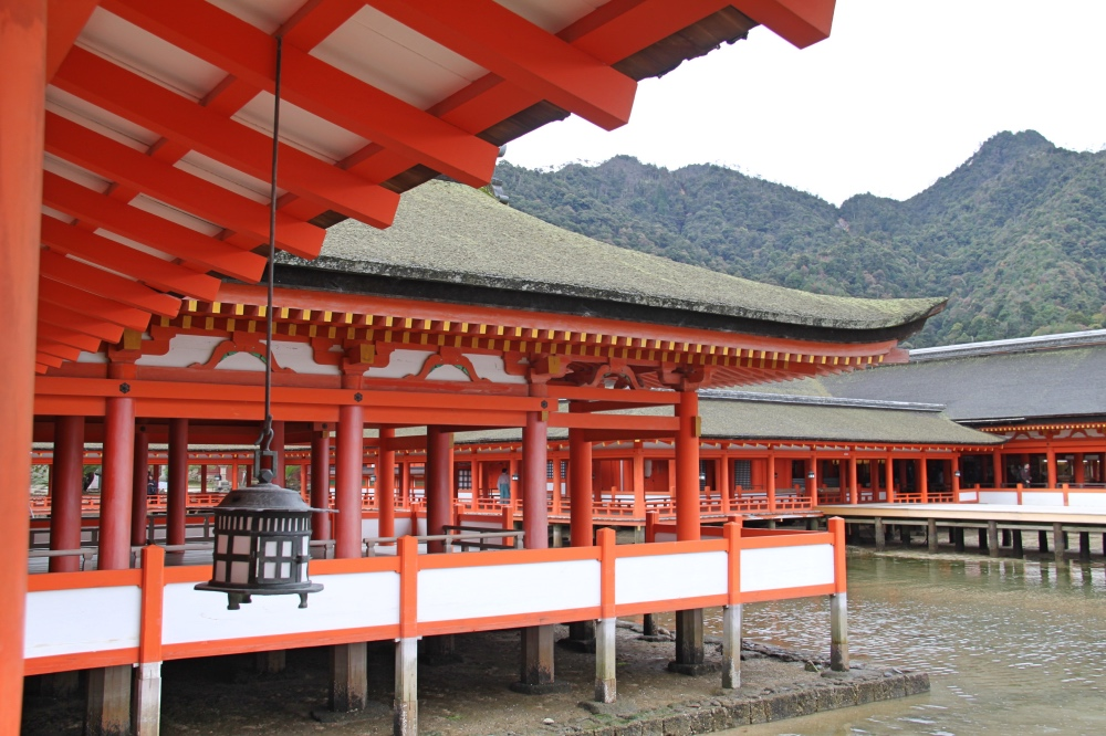 The main building of the Itsukushima Shrine .