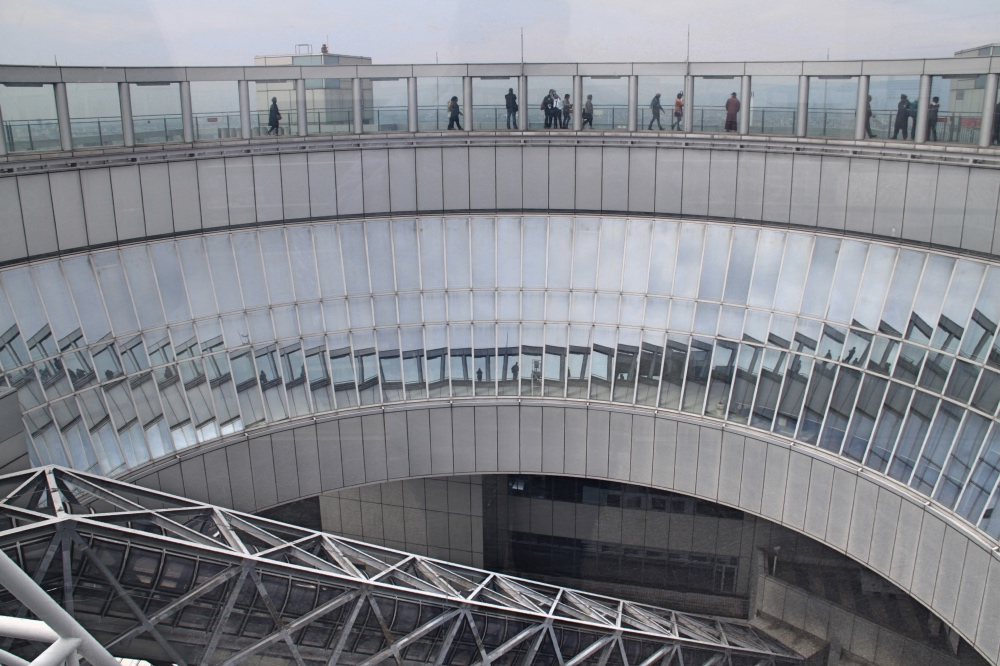 The observation deck of the Umeda Tower