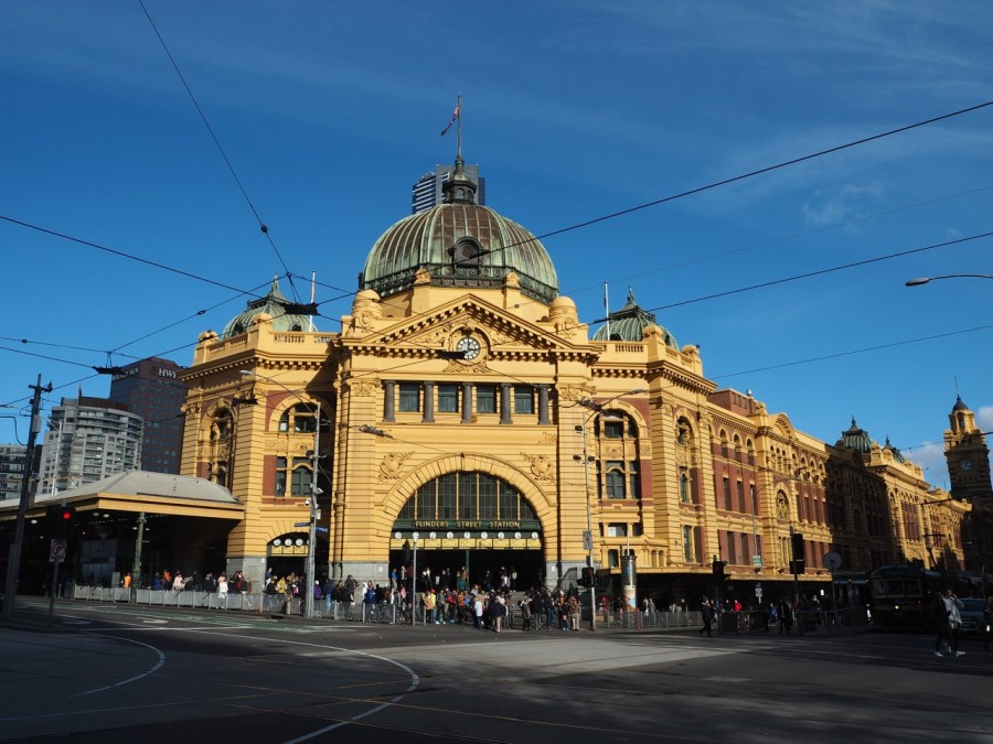The iconic Flinders Street Station.