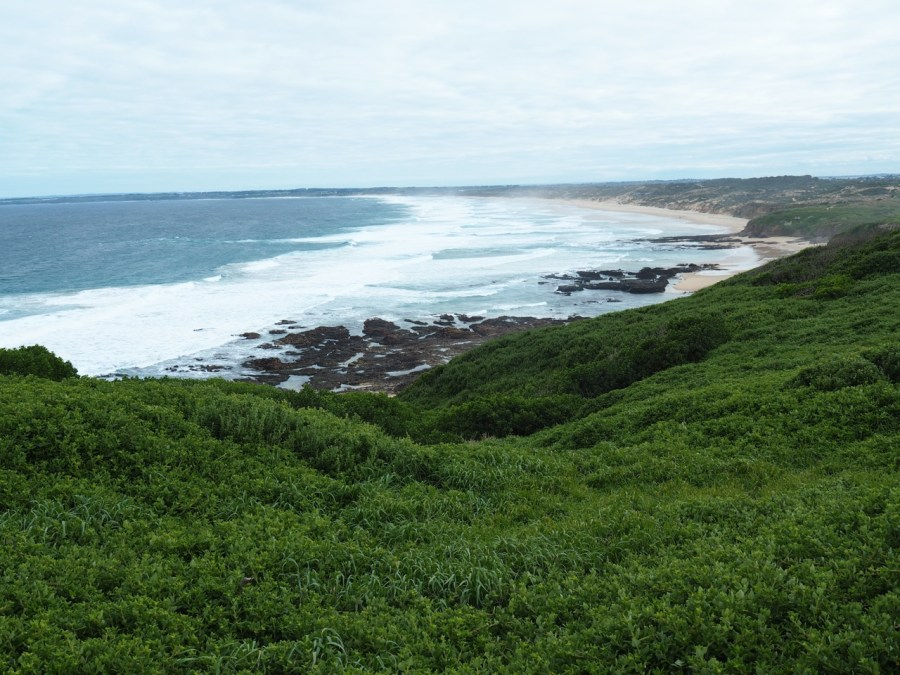 View over Woolamai Beach.