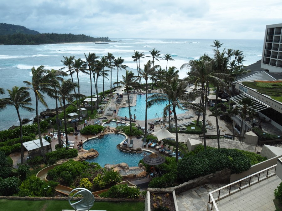 The view from our room at the Turtle Bay.
