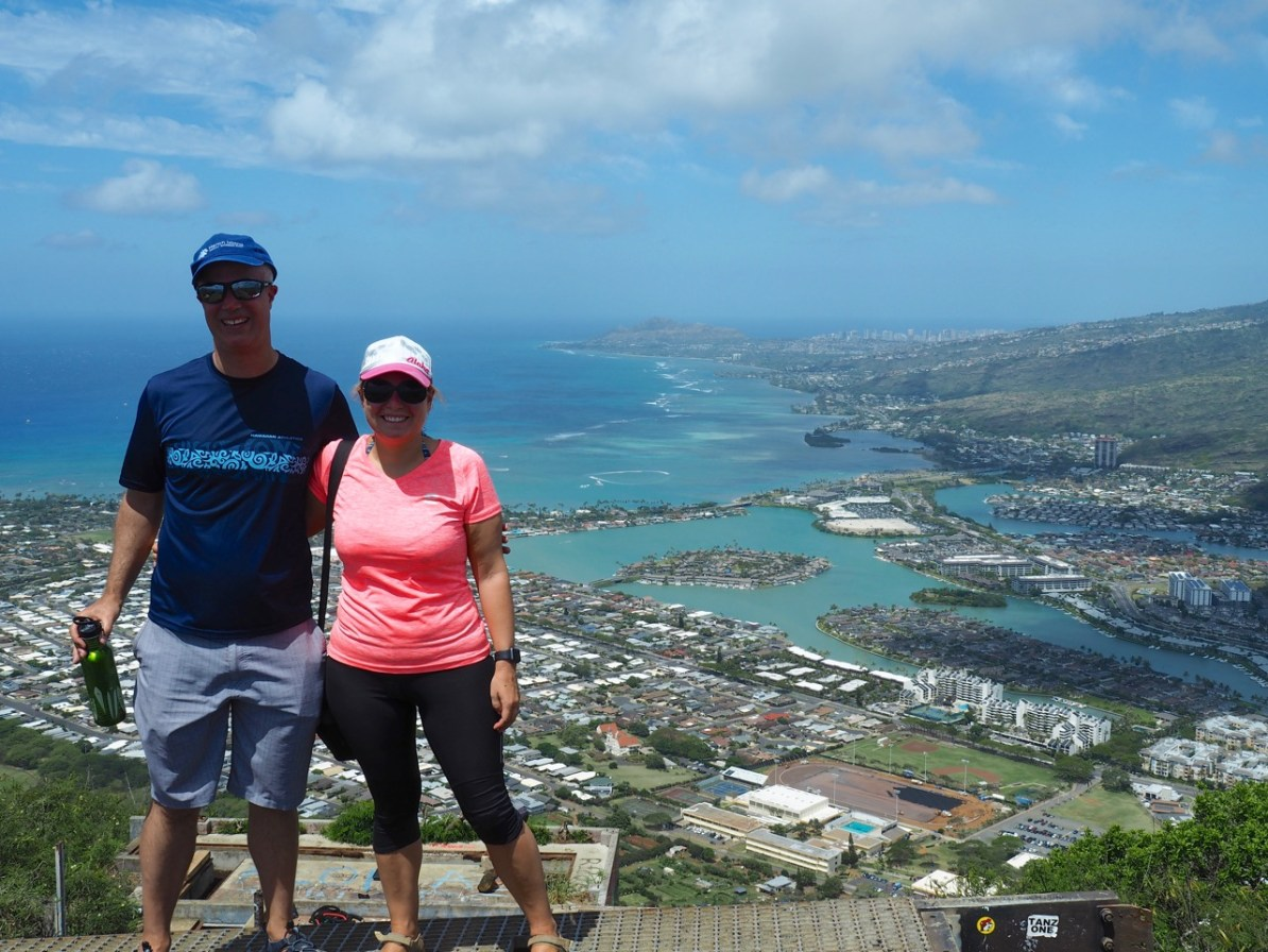 The view from the exhausting Koko Head Crater trail.