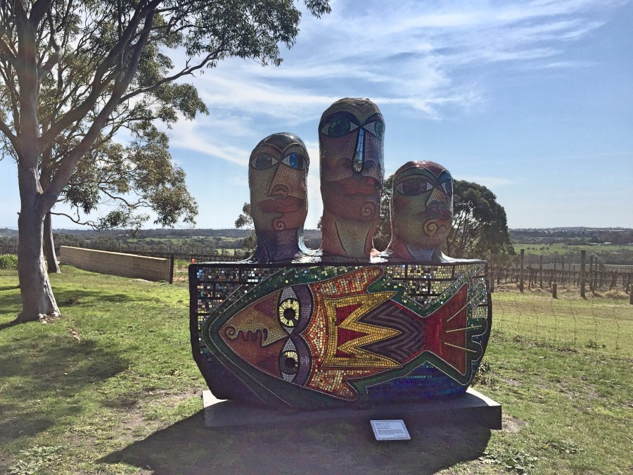 One of the art sculpture at Yabby Lake.
